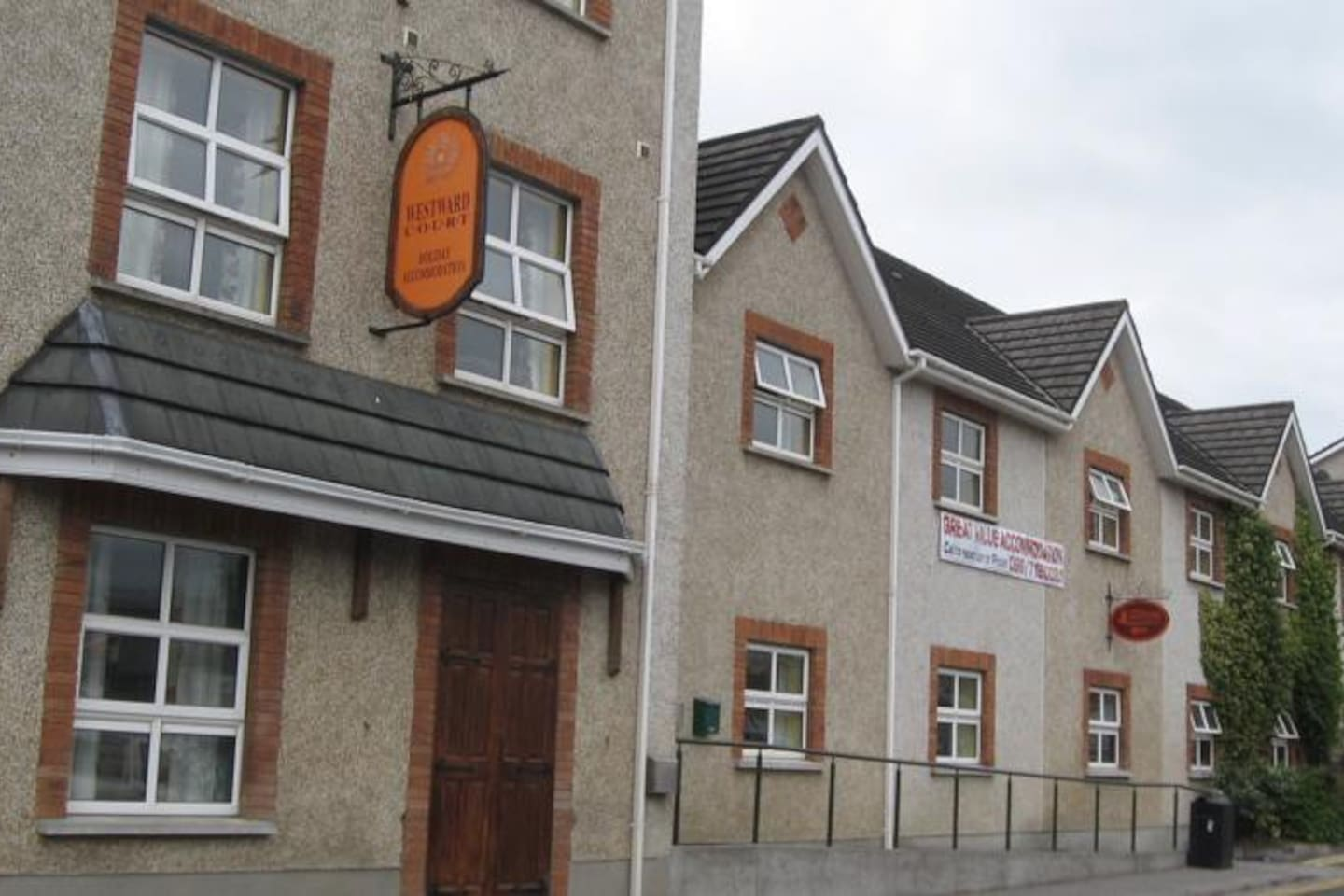 Tralee Holiday Lodge, across the car park from small Tesco, in the center of the town.