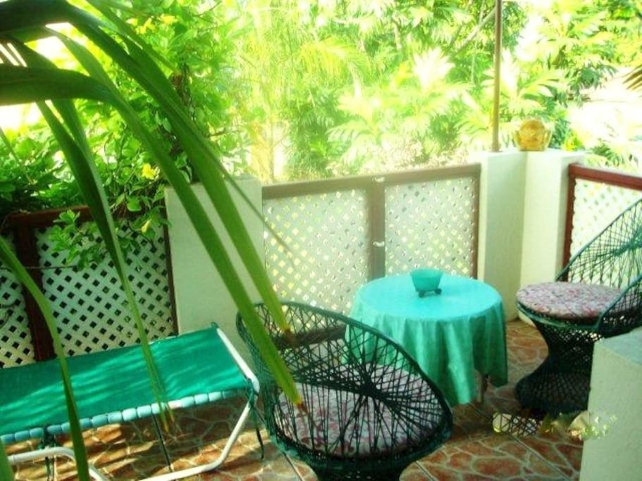 small outside sitting area