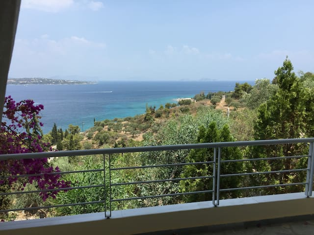 Lovely flat with amazing view located in Spetses - Nisi - Daire