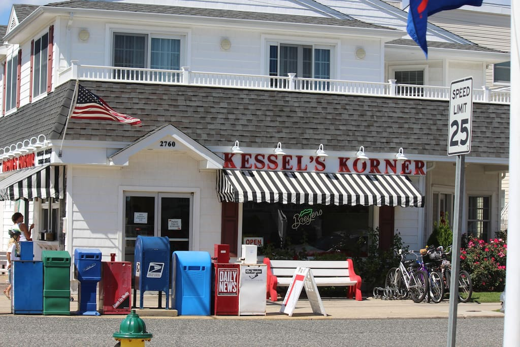 Kessler's Korner popular place for breakfast, lunch, dinner and of course ice cream is right around the corner!