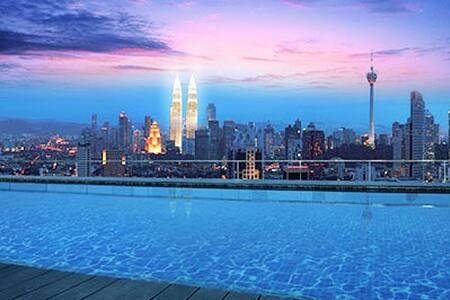 #6 Rooftop Infinity Pool+KL View - Kuala Lumpur - Lejlighed