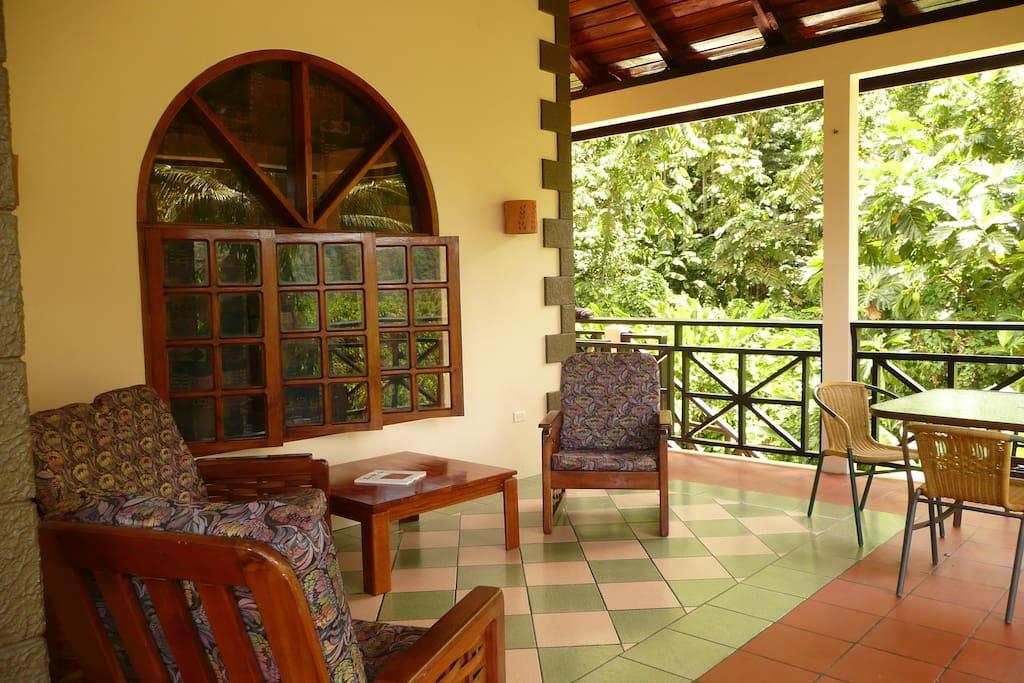 The beautiful veranda with garden & sea view and nice breeze