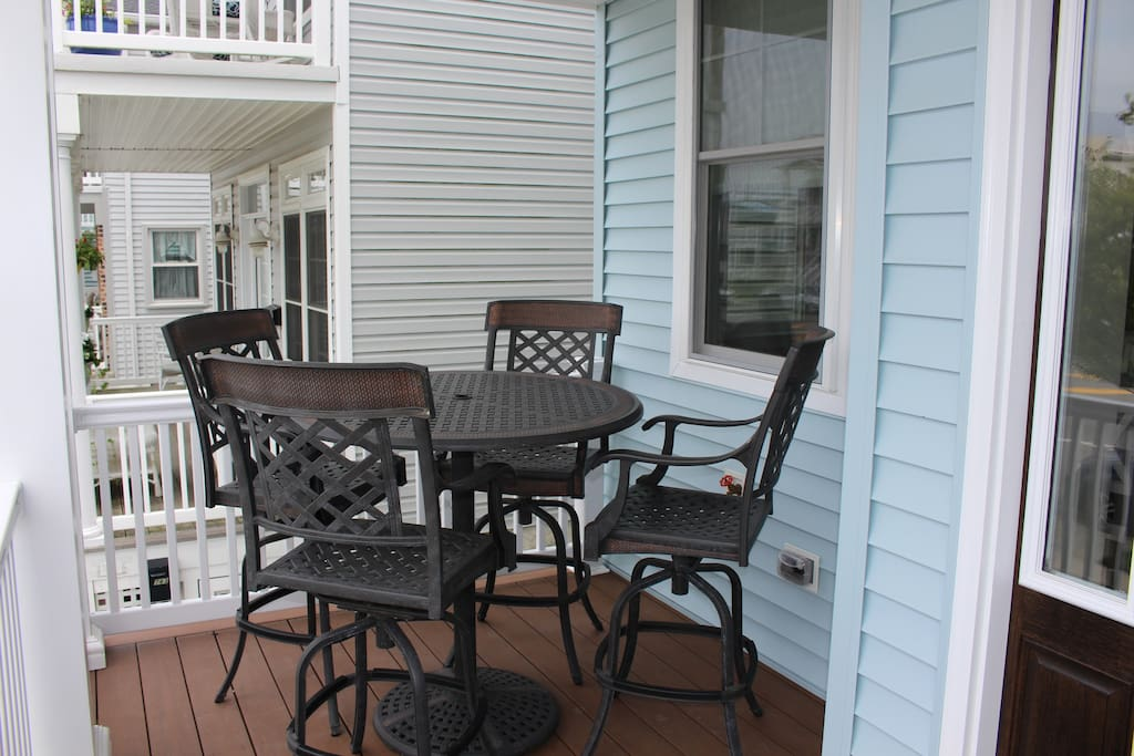 Enjoy a meal or drink on the front deck