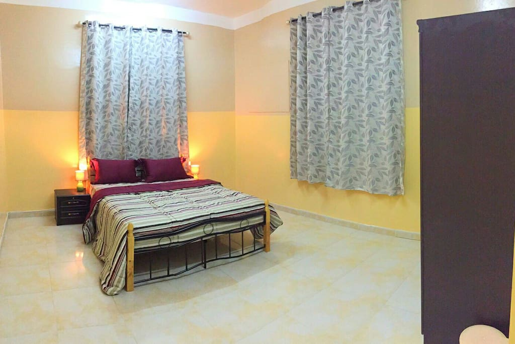 Double bedroom, good for couple who wants privacy, comes with its own bathroom.