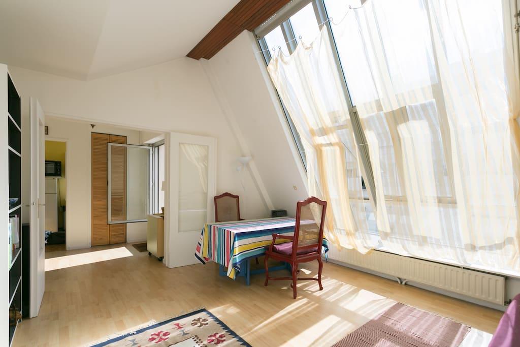 Studio lumineux avec terrasse 15 me appartements louer for Appartement atypique 15eme