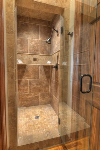 Separate shower in the Royal Suite.