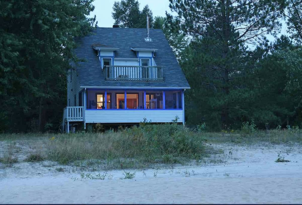 House sits directly on the beach