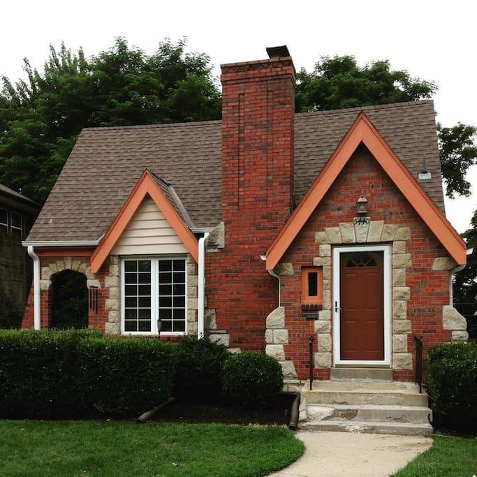 Retro, Tudor-style Home In KCMO