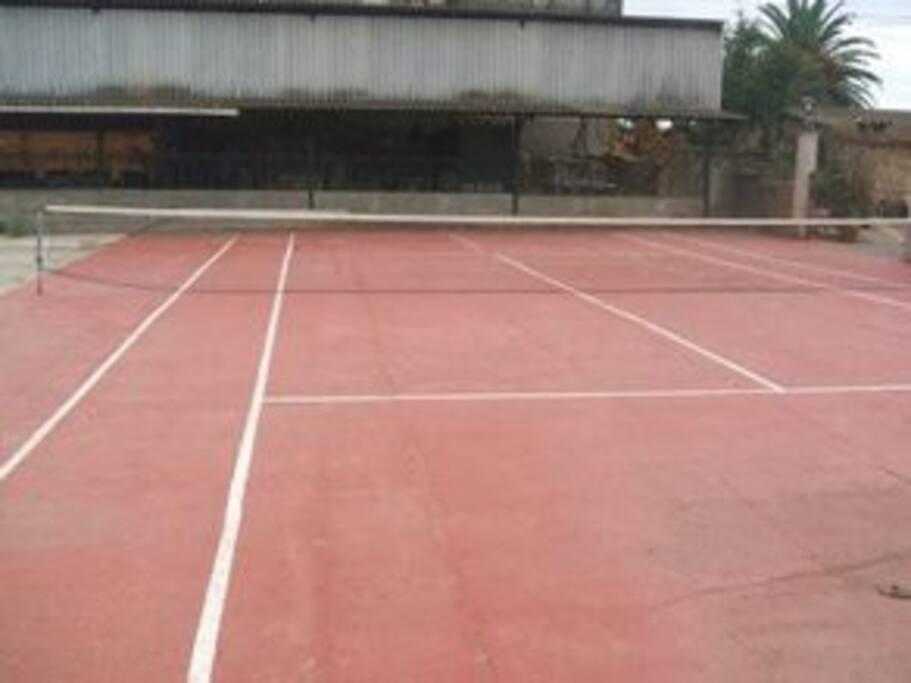 pequeña cancha de tenis