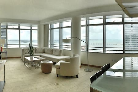 Panoramic Bay Views, Brickell Condo - Miami - Byt