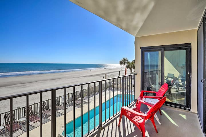NEW! Oceanfront Oasis w/ Pool, Steps to Beach!