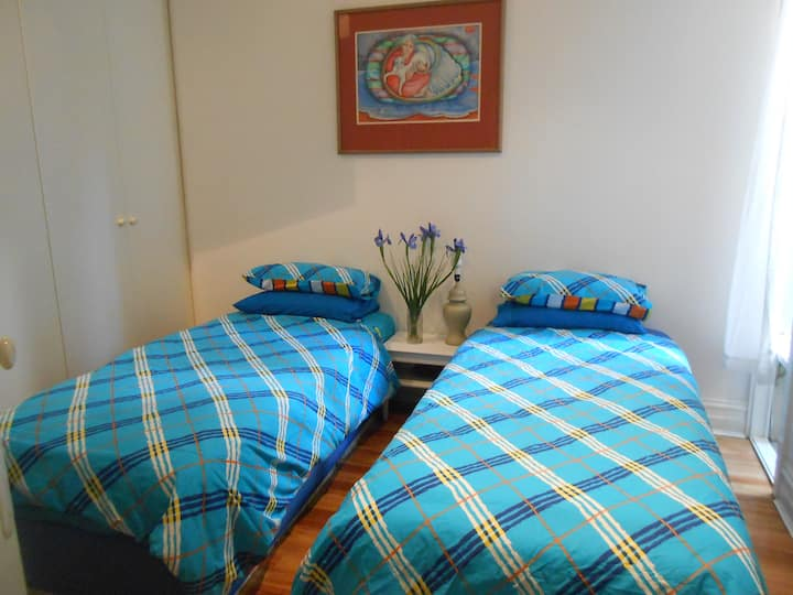 Private Bathroom - Cosy Twin beds or king size bed