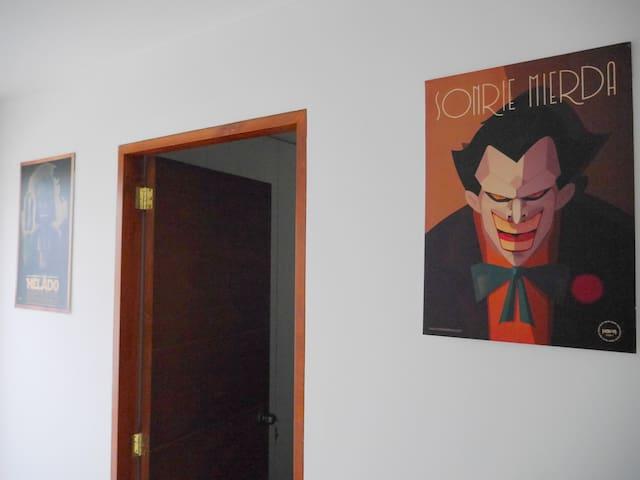 Bedroom w private bathroom border Barranco & Miraf - Lima - Apartment