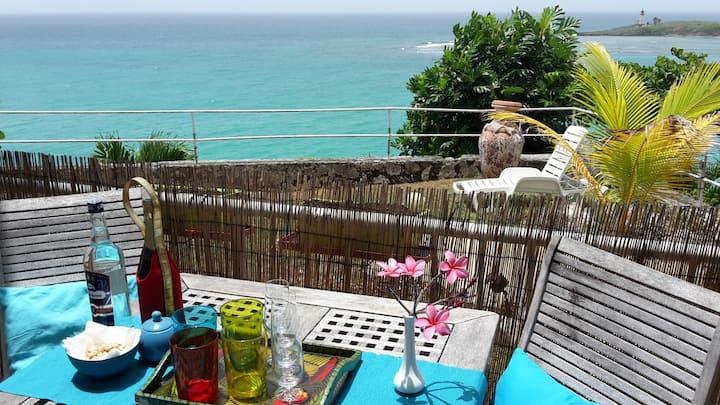 Rez de jardin à 5 min de la plage