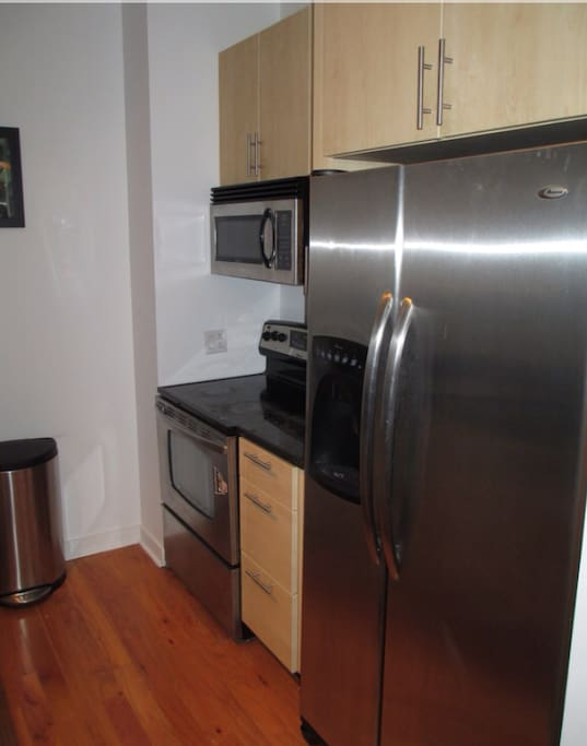 Generous kitchen with amenities for your needs.
