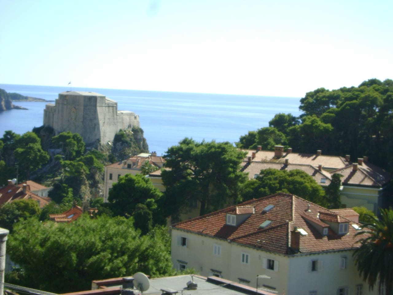 View from the window - Lovrijenac Fortress and Adriatic sea