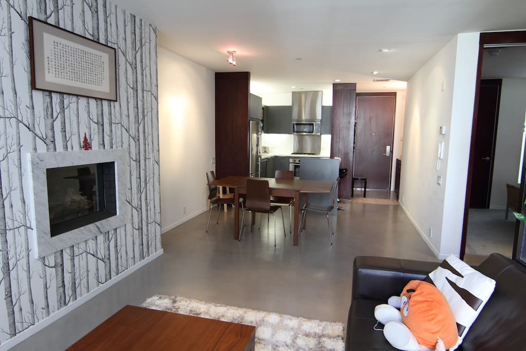 Open Space - Living Room + Dining + Kitchen + Entry
