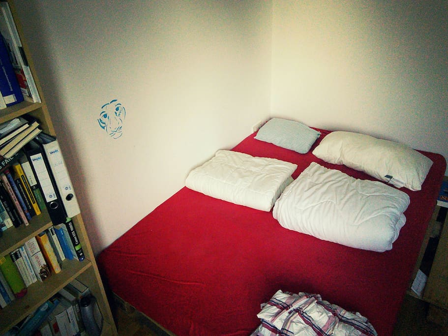That would be your room. Pretty Basic. Not much in it except a nice matress:) Size: 16 square meters.