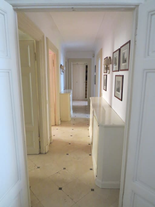 In this corridor you have the doors of the three bedrooms