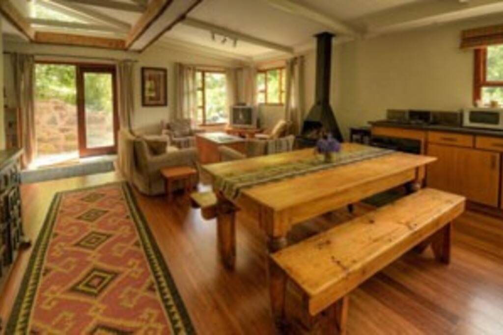Chalet Lounge and Dining Area