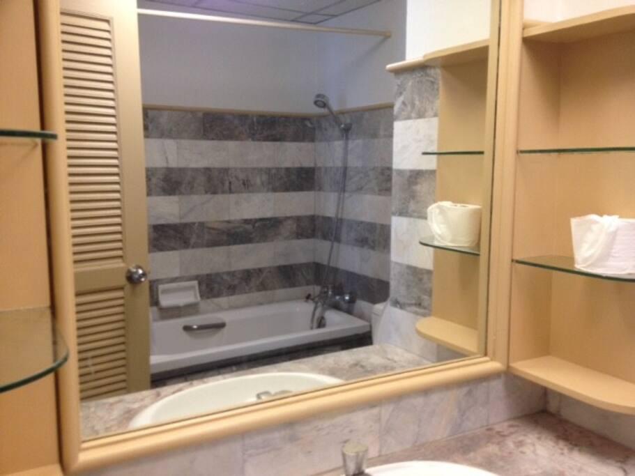Bathroom with Shower & Bath Tub