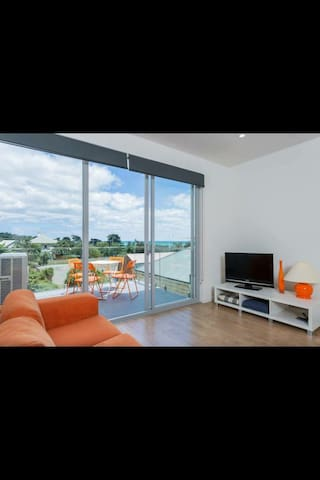 Expansive views of Dromana waters from the living room.