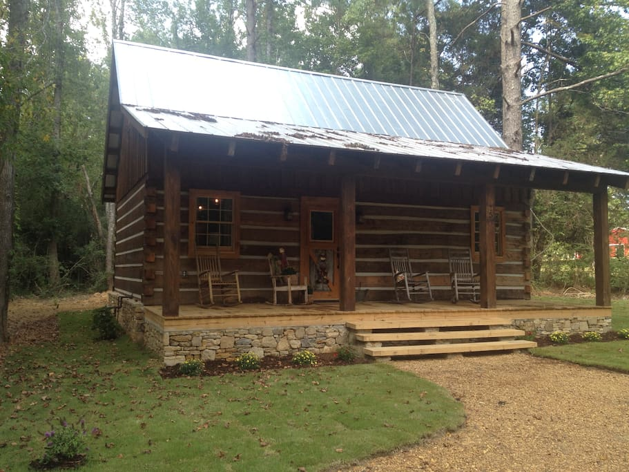 The Oakley House Log Cabin Cabins For Rent In Corinth