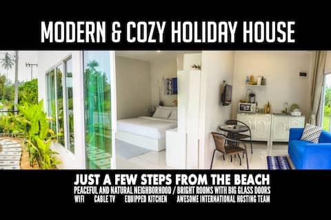 บ้าน 1 ห้องนอน สำหรับ 2-3 คน ใกล้หาด 300ม