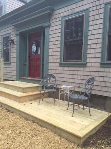 Enjoy a cup of coffee or glass of wine on your private sitting deck.
