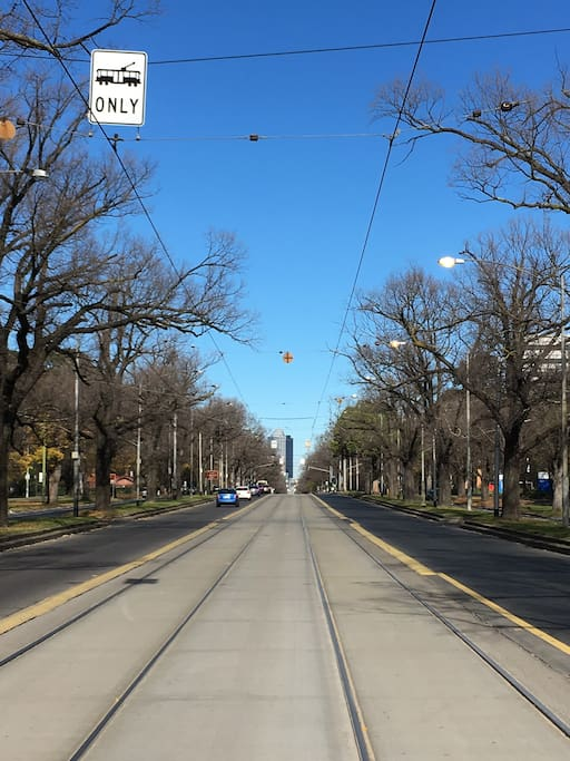 The beautiful Royal Parade. Walkable to Sydney Rd cafe strip and quick tram trip to city, Vic market, chinatown.