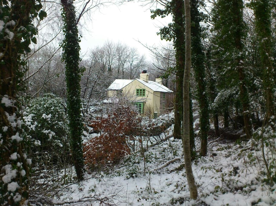 Wintry view of the house !
