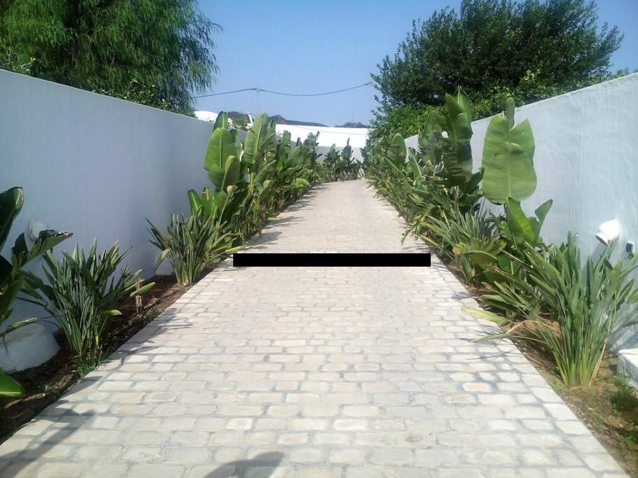 Einfahrt zum Grundstück