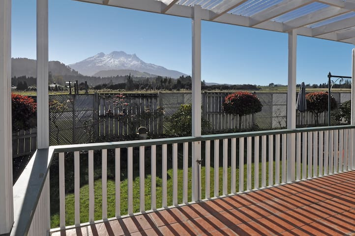 Mt Ruapehu view from the deck