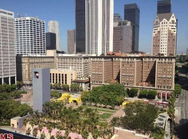 View of Pershing Square from rooftop
