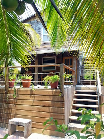 Beach house steps away from incredible snorkelling - Utila
