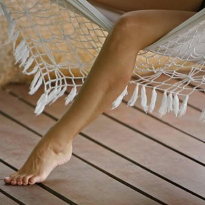 Every floor has hammocks!