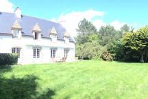 Maison, vue du parc