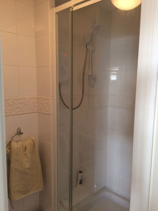 Ensuite Shower room with clean towels provided.