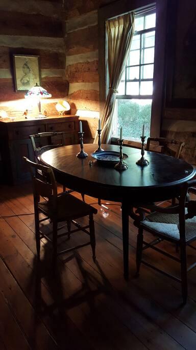 1750s chesnut log cabin room View 3