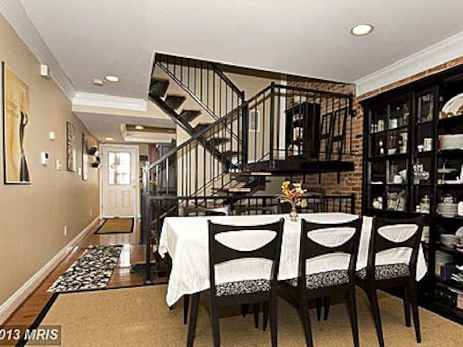 Dining Room / Open Staircase.