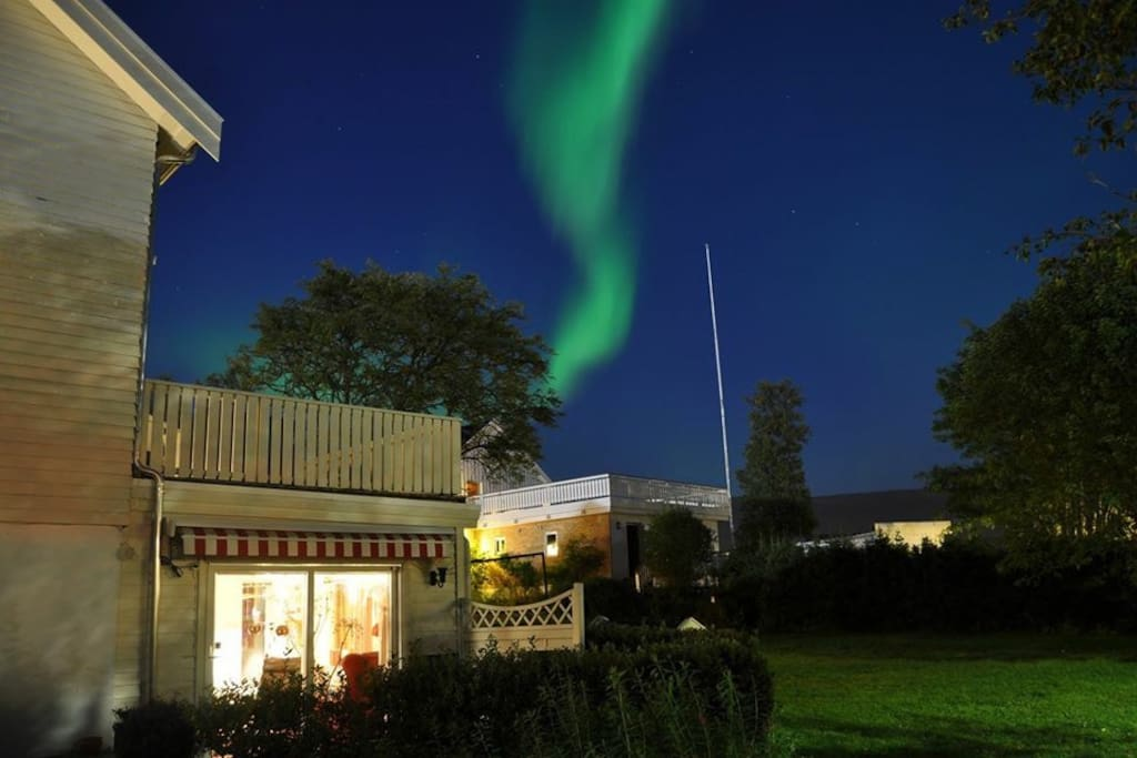 From the apartment you can catch sight of the Northern Lights