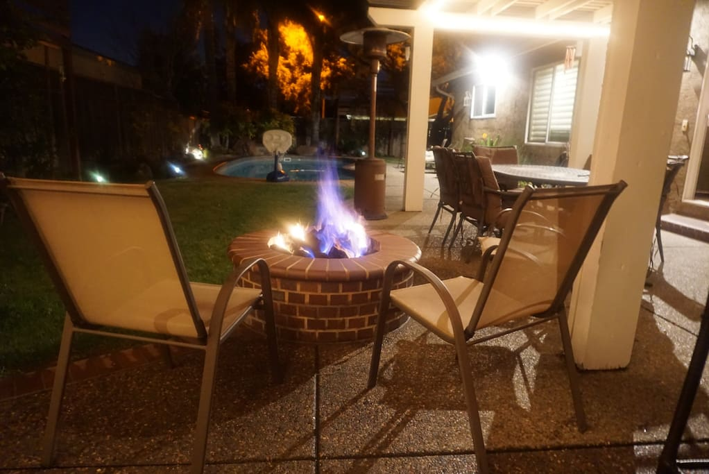 Gas Fire Pit-NOT to be used for marshmallow roasting