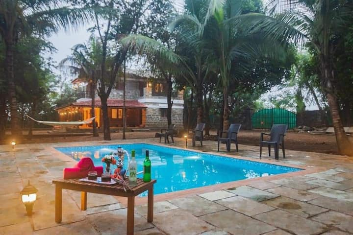 KAMSHET 4BHK VILLA WITH PRIVATE SWIMMING POOL VIEW