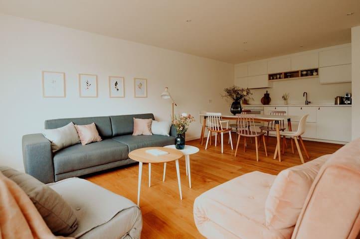 Stilvoll wohnen am Alsterpark 65 qm / 7 Gäste