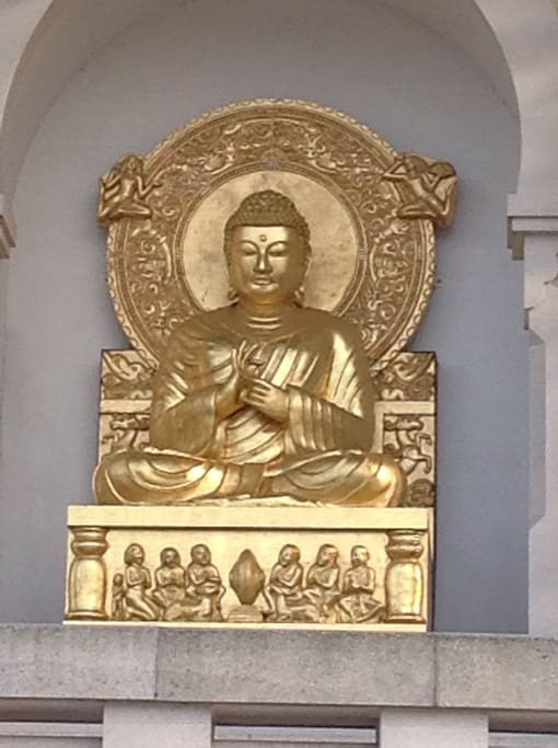 The Buddhist Statue at the Pagoda - 10 minutes walk away in Battersea Park