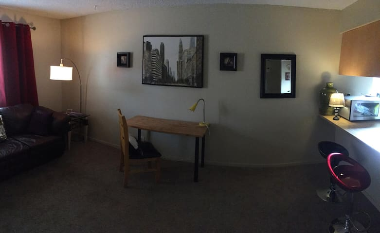 One-Bedroom Private Apt close to Airport/Strip