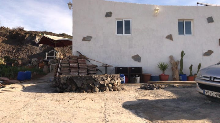A traditional Canarian house with ecogarden