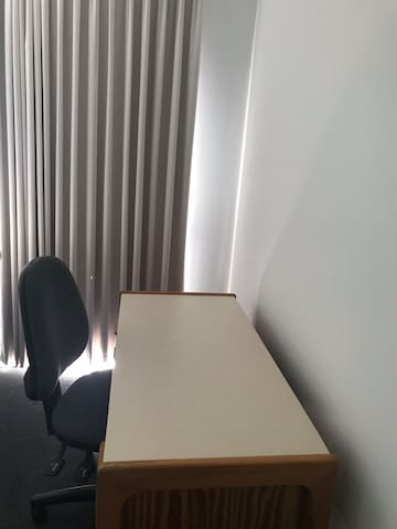 Desk space for guest use