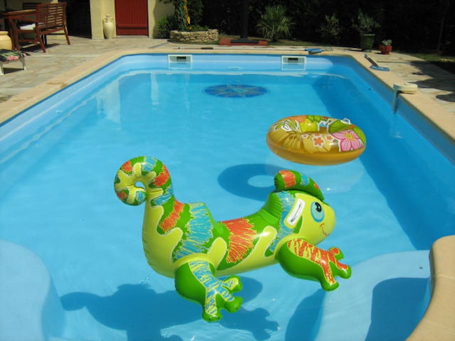 Selection of age related pool toys