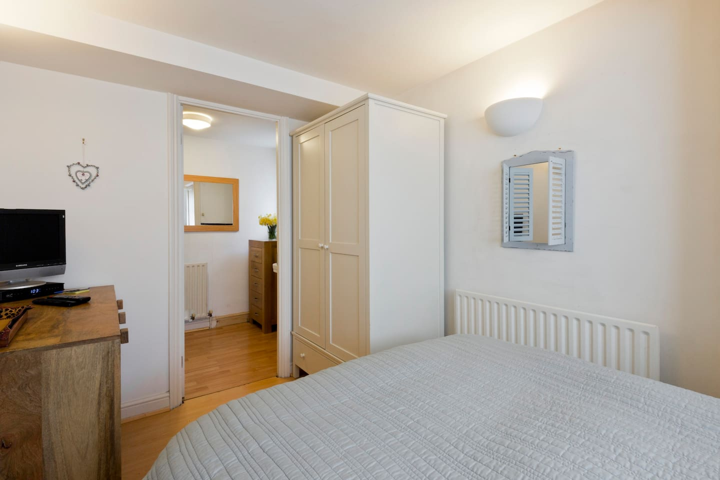 double bed and private ensuite